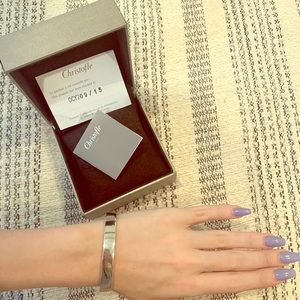 NWT NEVER WORN CHRISTOFLE STERLING SILVER BANGLE